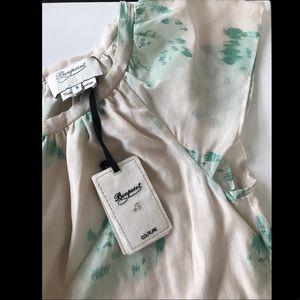 Bonpoint YAM NWT a-line dress cream/green Size S
